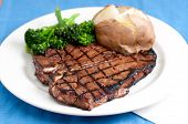 foto of t-bone steak  - a delicious t - JPG