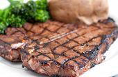 picture of t-bone steak  - a delicious t - JPG