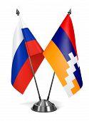 Russia and  Nagorno-Karabakh  on Miniature Flags.