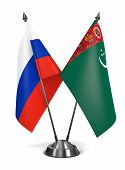 Russia and Turkmenistan - Miniature Flags.