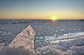 Lake Erie Sunrise In Winter