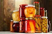 Jars With Pickled Vegetables