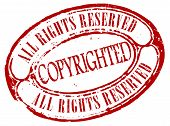 Retro copyrighted stamp