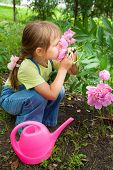 Little Girl Helping In The Spring Work, Gardening