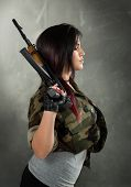 Attractive Woman Soldier