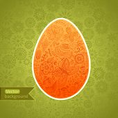 pic of orange blossom  - Easter egg made of flowers - JPG
