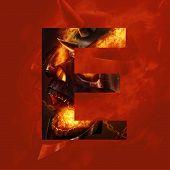 Monster letter E