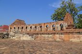 Wat Khudeedao, The Ruin Of A Buddhist Temple In The Ayutthaya Historical Park, Thailand