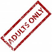 picture of adults only  - Adults only grunge rubber stamp on a white background - JPG
