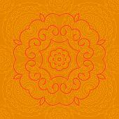 indian orange pattern