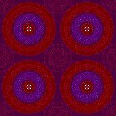 indian red and blue pattern