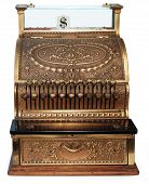 old fashioned cash register orthographic