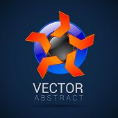 picture of mobius  - abstract vector logo design template abstract isolated - JPG
