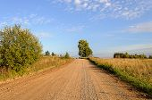 Sand-and-gravel Country Road