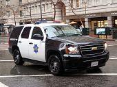 Ford Explorer Sfpd Cop Vehicle Rolls Down Market Street