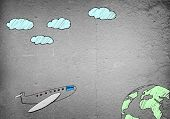 Drawn airplane