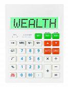 Calculator With Wealth