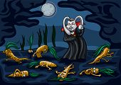 image of raid  - Illustration a rabbit vampire - JPG