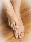 Female feet with pedicure