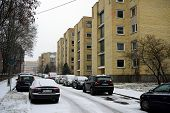 Zverynas District In Vilnius At Afternoon Time On November 24, 2014