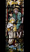 John the Baptist stained glass window