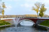 Bridge Over Swan Pond, Gomel, Belarus