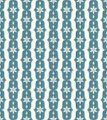 Blue Classic Flower And Lobe Seamless Pattern