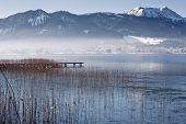Winter at lake Tegernsee, Bavaria, Germany