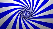 pic of hypnotic  - Hypnotic spiral or swirl making blue and white background in 3D - JPG