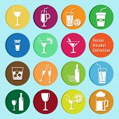 vector collection of alcohol beverage icons