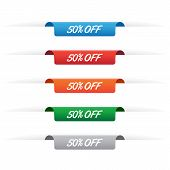 50% Off Paper Tag Labels