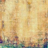 Old antique texture (for background). With different color patterns: yellow (beige); brown; green; cyan