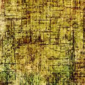 Grunge stained texture, distressed background with space for text or image. With different color patterns: yellow (beige); brown; green