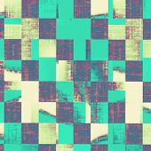 Rough vintage texture. With different color patterns: yellow (beige); blue; cyan; purple (violet)