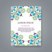foto of indian wedding  - Card or invitation with hand drawn Indian motifs - JPG