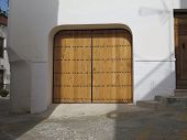 picture of stud  - Traditional Andalucian wooden doors with big iron studs - JPG