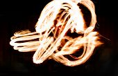 pic of fire  - Fire Show Flaming Trails - JPG