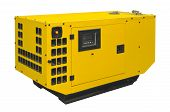 foto of generator  - Big generator isolated on a white background - JPG