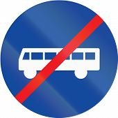picture of traffic rules  - Greek traffic sign at the end of a bus lane - JPG