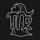 foto of virgo  - Virgo Constellation Doodle - JPG