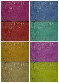 Colorful Holey Grunge Wall Set