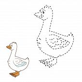 stock photo of mother goose  - Game for children - JPG