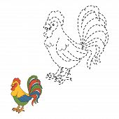image of roosters  - Game for children - JPG