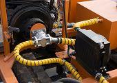 stock photo of hydraulics  - Hydraulic tubes - JPG