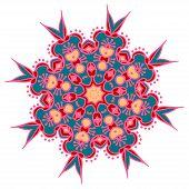 image of holi  - Hand drawing zentangle color element - JPG