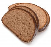 foto of fresh slice bread  - Slice of fresh rye bread isolated on white background cutout - JPG