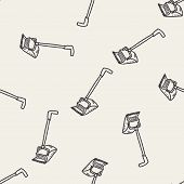 stock photo of broom  - Broom Doodle - JPG