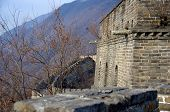 picture of mongol  - The great wall of china outside of beijing in winter - JPG