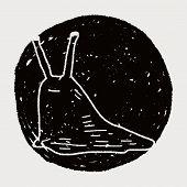 stock photo of slug  - Slug Doodle - JPG