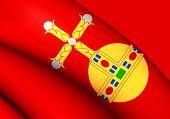 image of sweden flag  - 3D Flag of the Uppsala Sweden - JPG